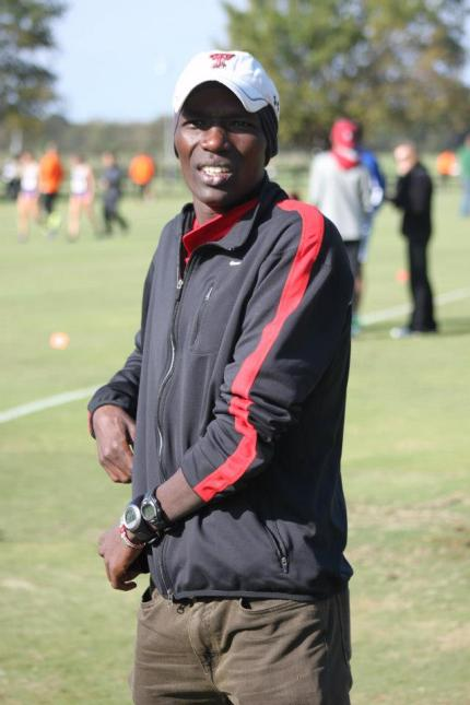 Haron Lagat, coaching at Texas Tech.