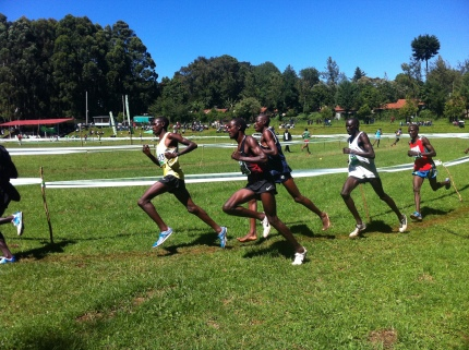 Moses Mukuno during the Kericho Weekend XC, January 12, 2013.