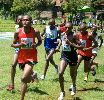 Japhet Korir during Kericho XC, January 12, 2013.